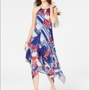 INC Hanky Hem Floral Dress